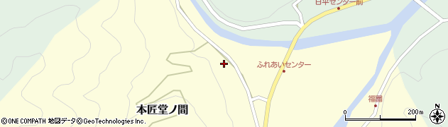 大分県佐伯市本匠大字堂ノ間123周辺の地図