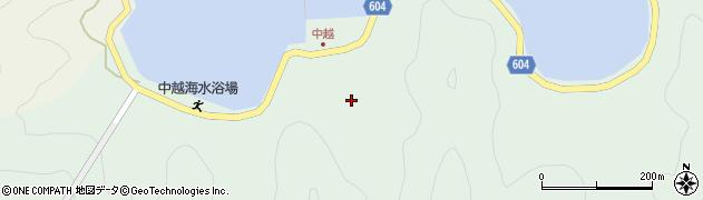 大分県佐伯市鶴見大字中越浦192周辺の地図