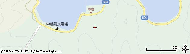 大分県佐伯市鶴見大字中越浦周辺の地図