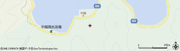 大分県佐伯市鶴見大字中越浦186周辺の地図