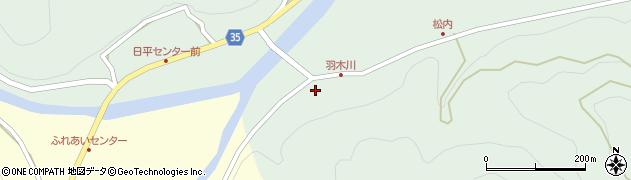 大分県佐伯市本匠大字因尾1042周辺の地図