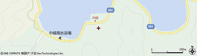 大分県佐伯市鶴見大字中越浦177周辺の地図