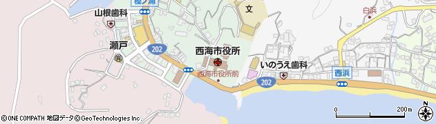 長崎県西海市周辺の地図