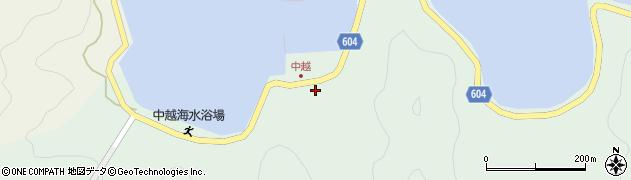 大分県佐伯市鶴見大字中越浦180周辺の地図