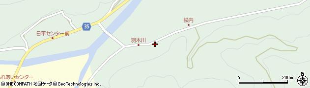 大分県佐伯市本匠大字因尾1071周辺の地図