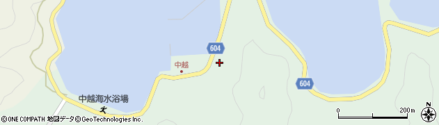 大分県佐伯市鶴見大字中越浦368周辺の地図