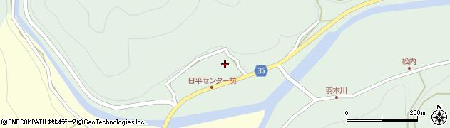 大分県佐伯市本匠大字因尾111周辺の地図