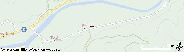 大分県佐伯市本匠大字因尾897周辺の地図
