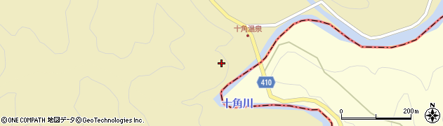 大分県竹田市入田十角周辺の地図