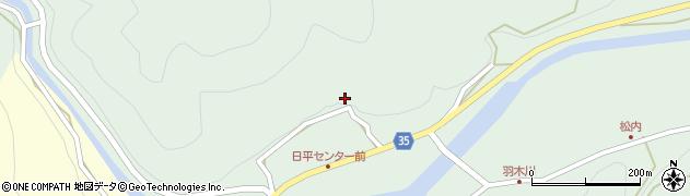 大分県佐伯市本匠大字因尾365周辺の地図