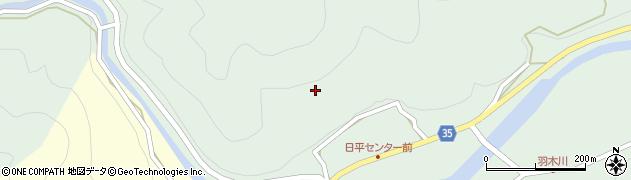 大分県佐伯市本匠大字因尾日平周辺の地図