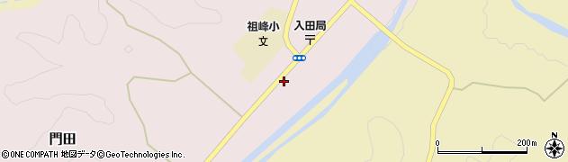 大分県竹田市門田周辺の地図