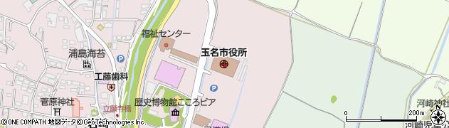 熊本県玉名市周辺の地図