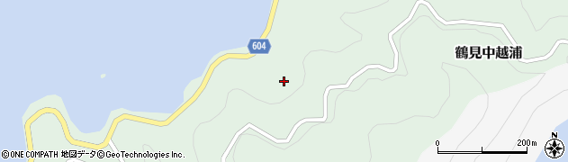 大分県佐伯市鶴見大字中越浦島江周辺の地図
