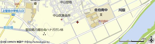 大分県佐伯市長谷中山区周辺の地図