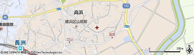 熊本県長洲町(玉名郡)高浜周辺の地図