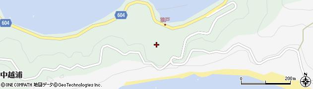 大分県佐伯市鶴見大字中越浦583周辺の地図