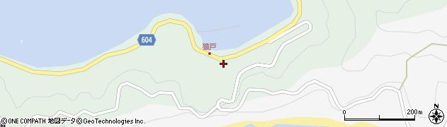 大分県佐伯市鶴見大字中越浦608周辺の地図