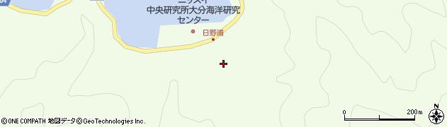 大分県佐伯市鶴見大字有明浦周辺の地図