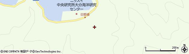 大分県佐伯市鶴見大字有明浦708周辺の地図