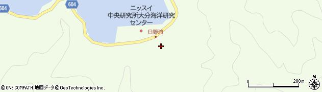 大分県佐伯市鶴見大字有明浦518周辺の地図
