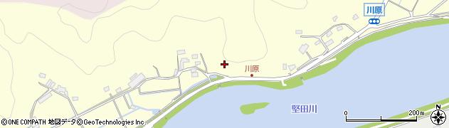 大分県佐伯市長谷川原区周辺の地図