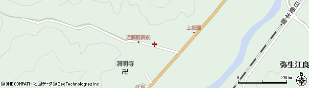 大分県佐伯市弥生大字江良1354周辺の地図