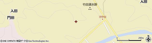 大分県竹田市入田河宇田周辺の地図