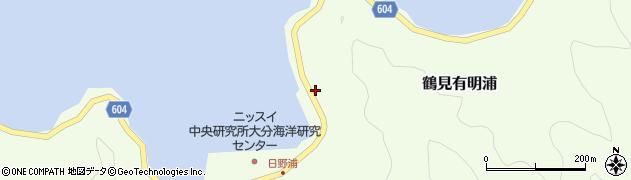 大分県佐伯市鶴見大字有明浦802周辺の地図
