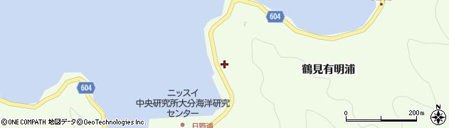 大分県佐伯市鶴見大字有明浦804周辺の地図