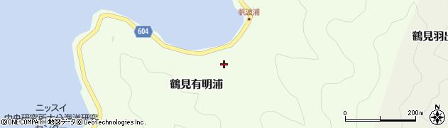 大分県佐伯市鶴見大字有明浦1075周辺の地図