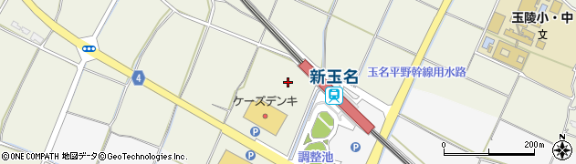 新玉名駅第2駐車場周辺の地図
