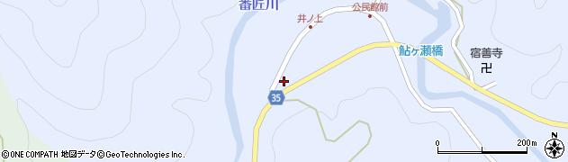 大分県佐伯市本匠大字井ノ上255周辺の地図