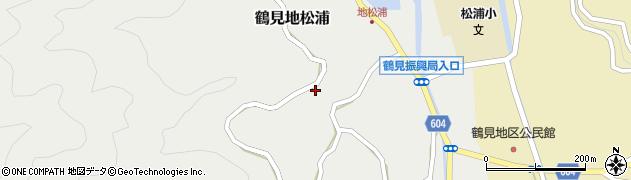 大分県佐伯市鶴見大字地松浦1040周辺の地図