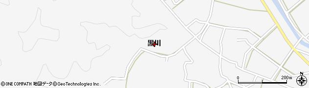 高知県宿毛市平田町黒川周辺の地図