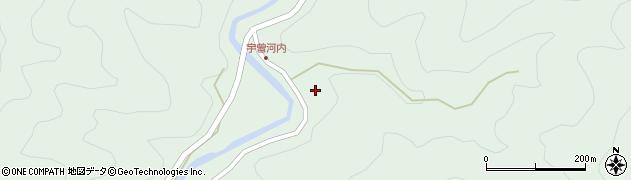 大分県佐伯市本匠大字因尾宇曽河内周辺の地図