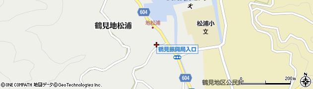 大分県佐伯市鶴見大字地松浦周辺の地図
