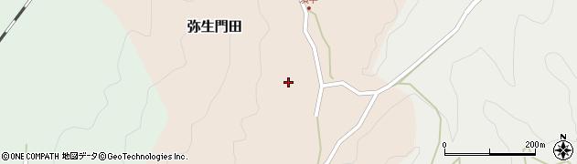 大分県佐伯市弥生大字門田285周辺の地図