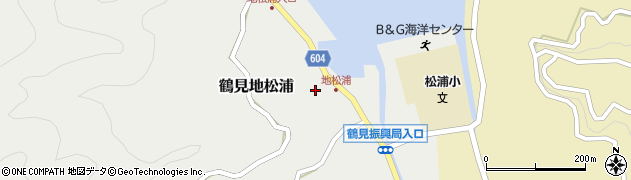 大分県佐伯市鶴見大字地松浦876周辺の地図
