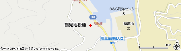 大分県佐伯市鶴見大字地松浦873周辺の地図
