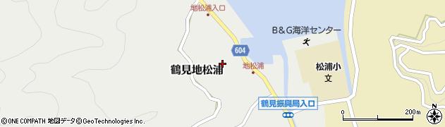 大分県佐伯市鶴見大字地松浦849周辺の地図
