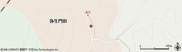 大分県佐伯市弥生大字門田539周辺の地図