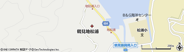 大分県佐伯市鶴見大字地松浦591周辺の地図