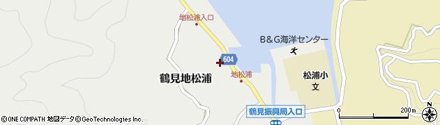 大分県佐伯市鶴見大字地松浦858周辺の地図