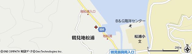 大分県佐伯市鶴見大字地松浦580周辺の地図