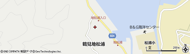 大分県佐伯市鶴見大字地松浦554周辺の地図