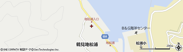 大分県佐伯市鶴見大字地松浦547周辺の地図