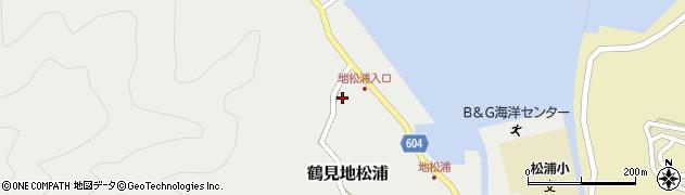 大分県佐伯市鶴見大字地松浦535周辺の地図