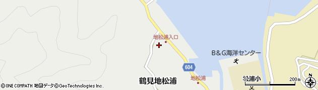 大分県佐伯市鶴見大字地松浦621周辺の地図