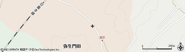 大分県佐伯市弥生大字門田591周辺の地図